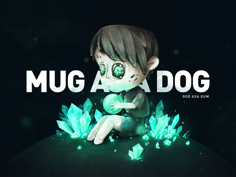 MUG ASA DOG game universe star children cartoon cute design cool color illustration