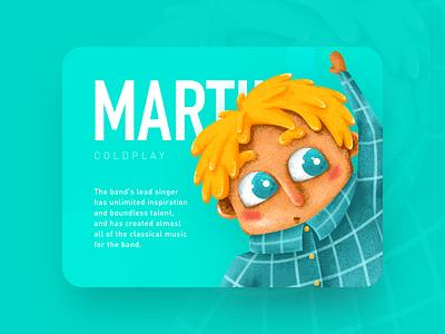 MARTIN color music coldplay children illustration