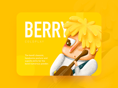 Berryman cute yellow color children music coldplay illustration