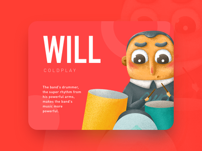 Will cute color children music coldplay illustration