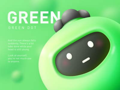 Green Dot sketch mascot illustration green game doll cute cool color cartoon