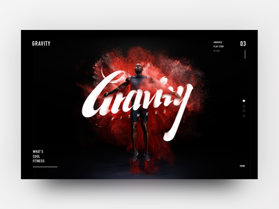 Gravity nothing clean cloud design cool font red gravity fitness web