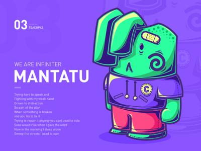 Mantatu Rabbit violet fluorescence illustrator rabbit doll illustration hiphop cool color cartoon