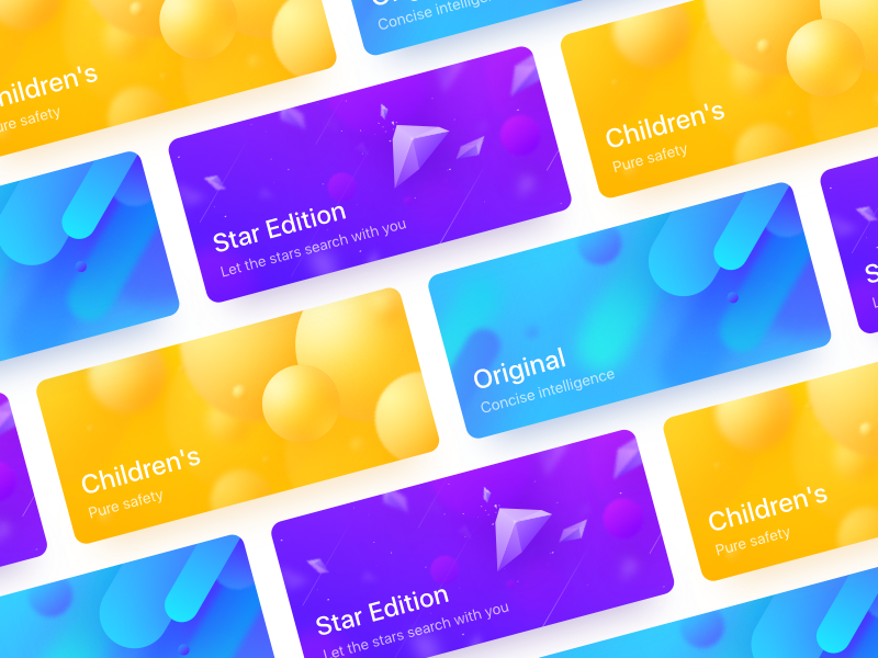 Color cards texture star illustration icon dribbble fries colorful color clean card