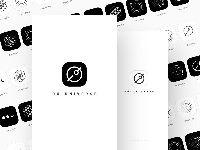 Logo Design block chain galaxy cool clean app icon star universe design logo