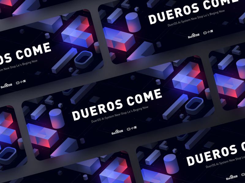 DuerOS 2 ai 2.5d science isometric vision ui design cool color illustration