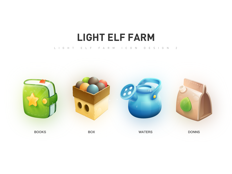 Light Elf Farm farm cartoon realism game icon logo design cool color illustration