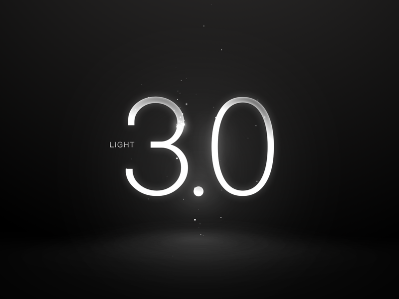 light 3.0 texture star shine vision dark number light design cool illustration