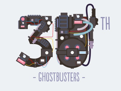 Ghostbusters ghostbusters 30th anniversary illustrator colors movie film ghost title