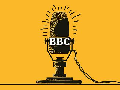 BBC bbc microphone recorder illustration handmade color history 18 june