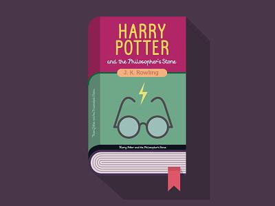 Harry potter harry potter book illustration flat design glasses storm app color novel character