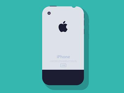 IPhone 2g iphone apple flat illustration design psd ai color