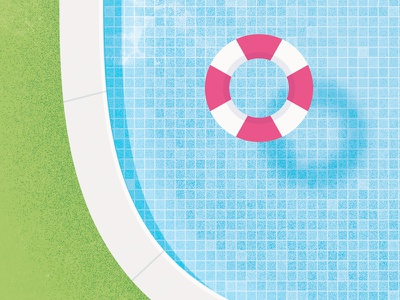 Swimming Pool  swimming pool blue summer party color illustration psd icon