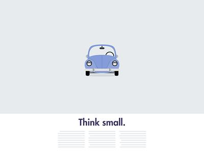 Beetle volkswagen illustration vector advertising 60s vintage flat ai colors car