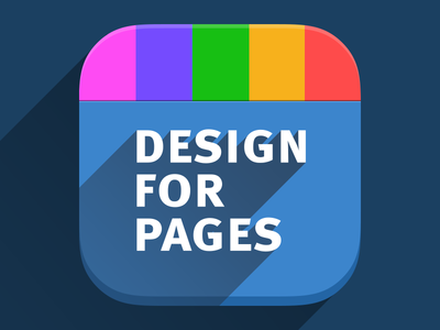 iOS7 App icon for Design For Pages (var 1)