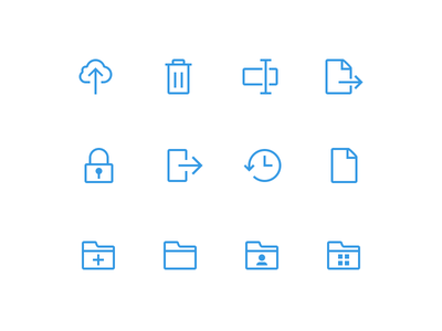 Minimalistic toolbar icons for WebFolder flat minimalistic toolbar icons icon