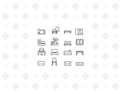 Minimalistic furniture icons furniture monochrome flat minimalistic website icons icon