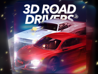 Road Drivers game icon design