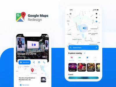 Google Maps Redesign Challenge