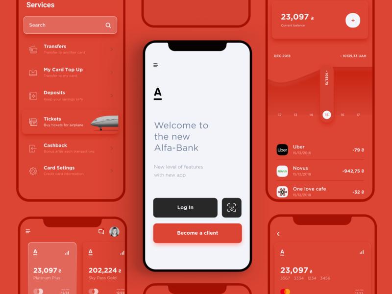 Alfa-Bank – Redesign mobile banking mobile bank interface cards design finance finance app bank app banking bank ui ux app