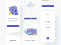 Onboarding interface dashboard accounts bankingapp bank minimalist registration illustration charts chart banking app ux ui mobile fintech onboarding