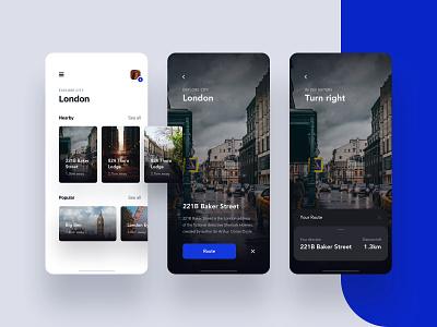Explore map ios design app ux ui city explore ar