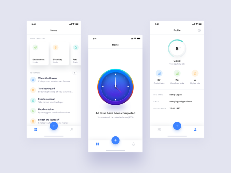 Did You mobile app illustration tasks to do ux ui
