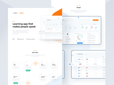 Babbel - Case Study charts product design dashboard ux ui learning app app web design