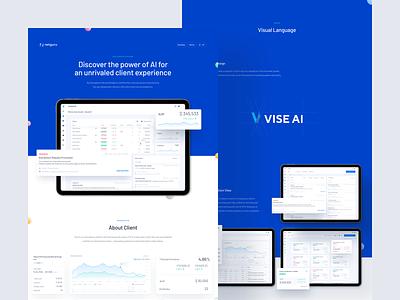 Vise AI - Case Study logo advisor platform design web product app ux ui dashboard portfolio ai