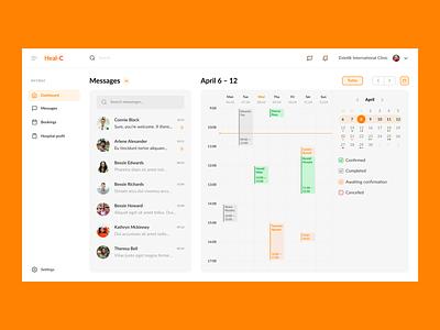 🩺 Clinic calendar | Dashboard [WIP] booking emoji search schedule clinic design medicine dashboad message calendar app web ux ui