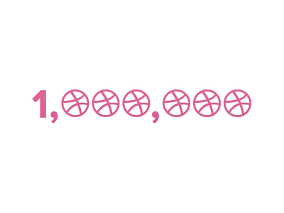 1 Million 1 million dribbble woot