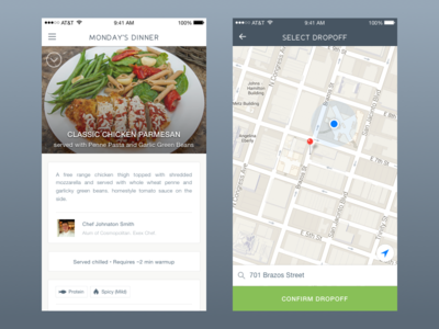Demand Food menu food ios mobile ux ui