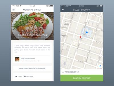Demand Food menu food ios mobile ux ui
