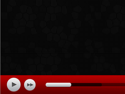 HTML5 Video video tv player controls play forward icon html5 red ui