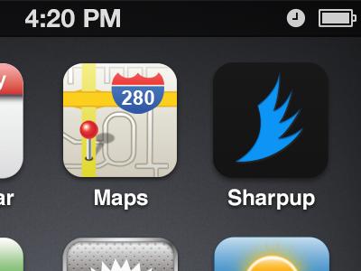 Sharpup for iPhone sharpup iphone icon dark blue glow