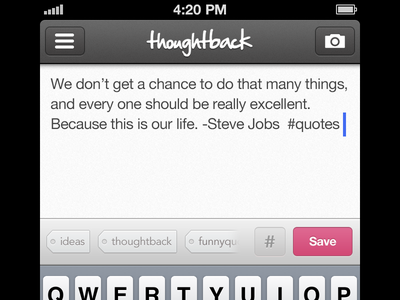 Thoughtback iphone thoughtback pink ui