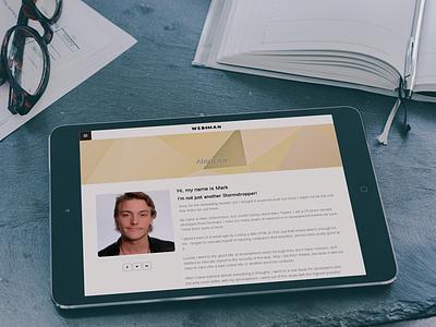 My Blog on iPad webman marktopper personal blog website portfolio