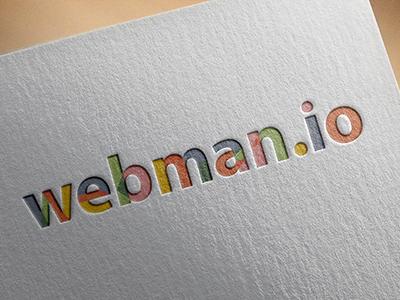 Multicolored Logo design logo webman colorized