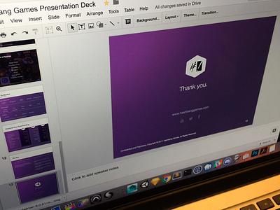 HBG Presentation Deck presentation deck mockup logo design
