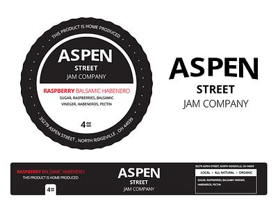 Aspen Street Jam Company Jar Labels adobe illustrator food graphic design label logo product design