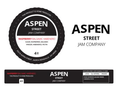 Aspen Street Jam Company Jar Labels