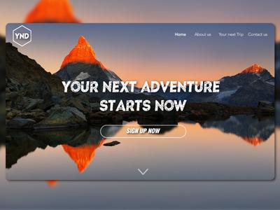 Adventure Landing Page