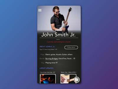 Profile Page - Musician Social Media