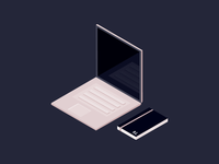 Isometric desk top