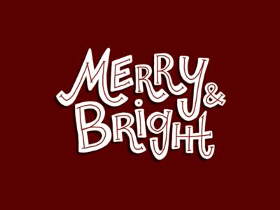 Merry & Bright Holiday Illustration