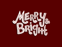 Merry & Bright Holiday Illustration
