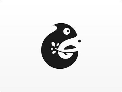 Negative Space Logo: Chameleon and Elephant negative space design branding logo design logo