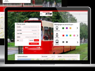 Almost done... htm.net haagse tram maatschapij den haag the hague redesign responsive design visual design ui design user interface design public transport