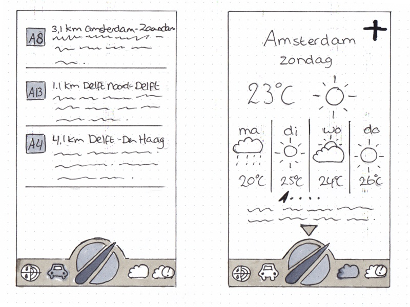 Buienradar sketch buienradar iphone app redesign sketch wireframe navigation weather app