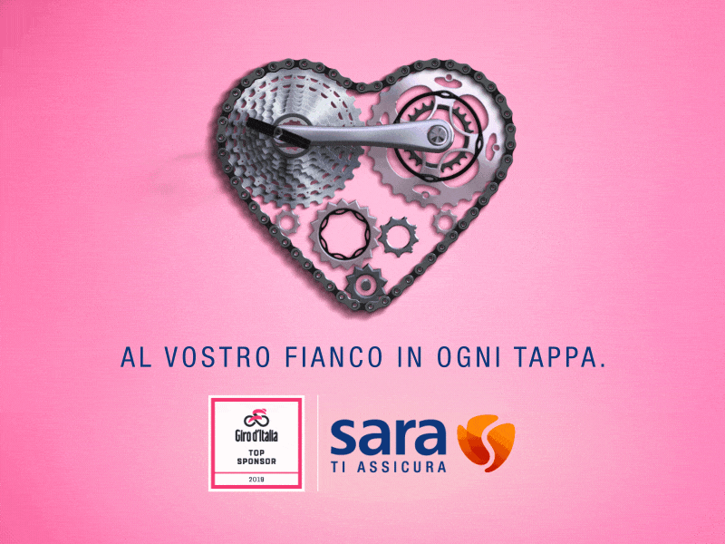 Adv campaign animation after effects gear heart giro ditalia sport bycicle gif animation gif